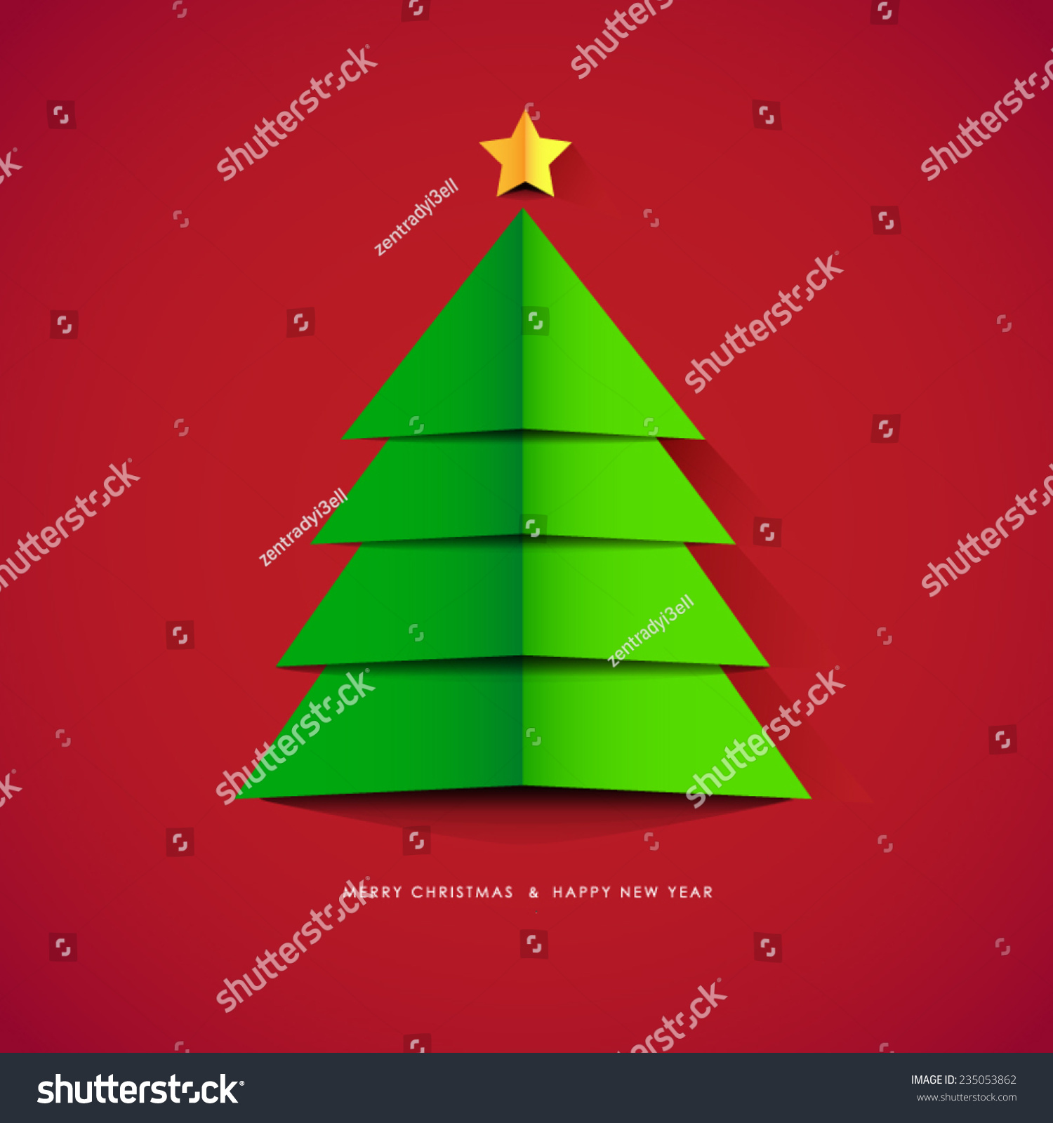 Modern Abstract Christmas Tree Vector Illustration Stock ...