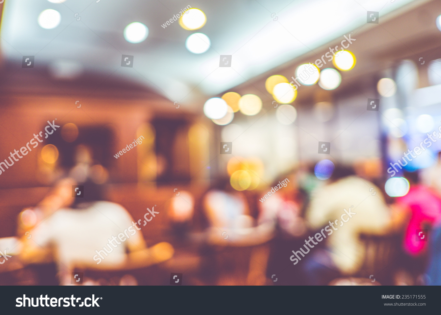 Restaurant Background With People Blurred Background Customer Restaurant Blur Background Stock Photo