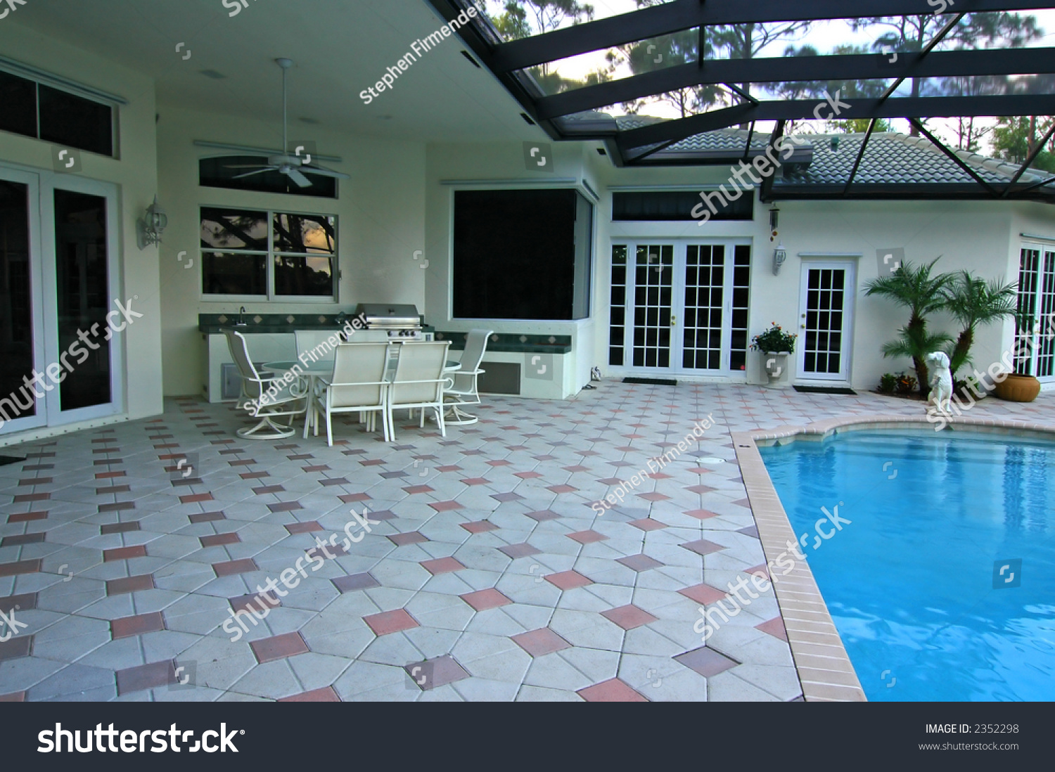 Florida pool and deck stock photo 2352298 shutterstock for Florida pool and deck