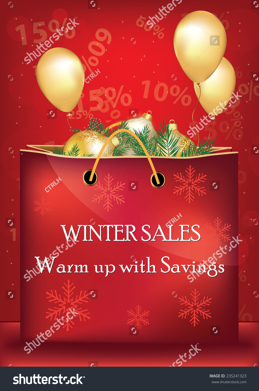 winter sales christmas sales poster for print contains a big red shopping bag with - Christmas Eve Sales