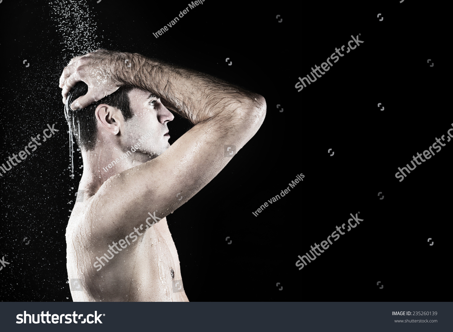 young good looking man taking shower stock photo 235260139 young good looking man taking shower in bath