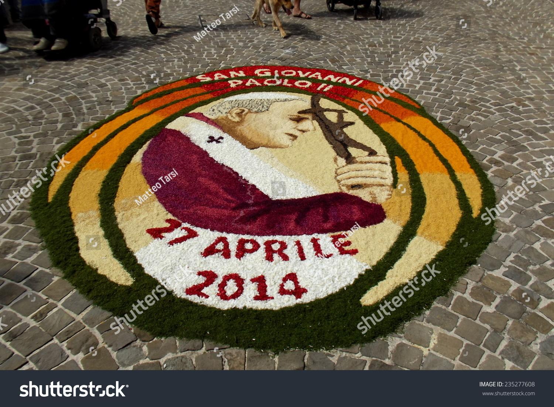 Arcevia Italy  city images : CASTIGLIONI DI ARCEVIA, ITALY 27 APRIL 2014 Flower festival. The ...
