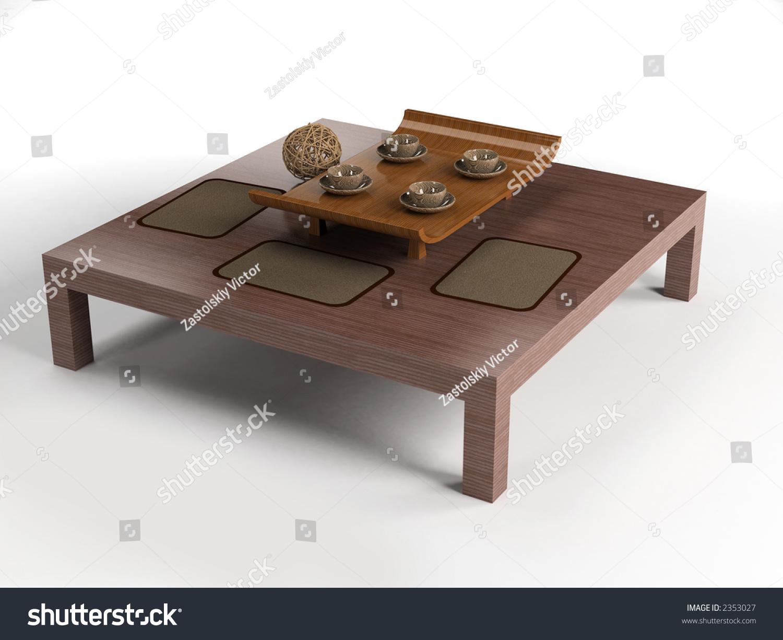 Ethnic design coffee table set 3d stock photo 2353027 shutterstock ethnic design coffee table set 3d rendering geotapseo Gallery