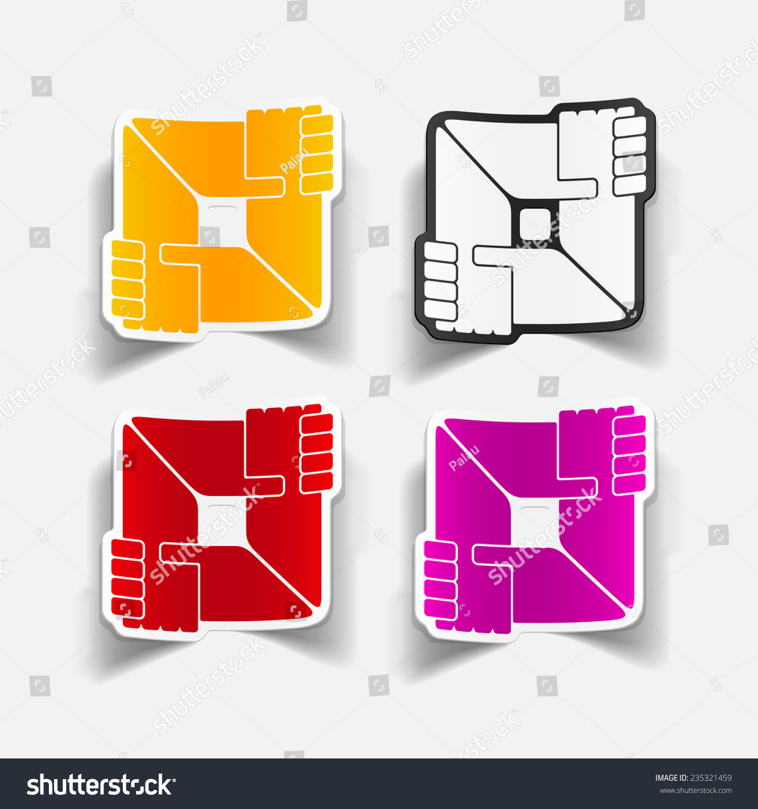 realistic design element handshake Vector Illustration