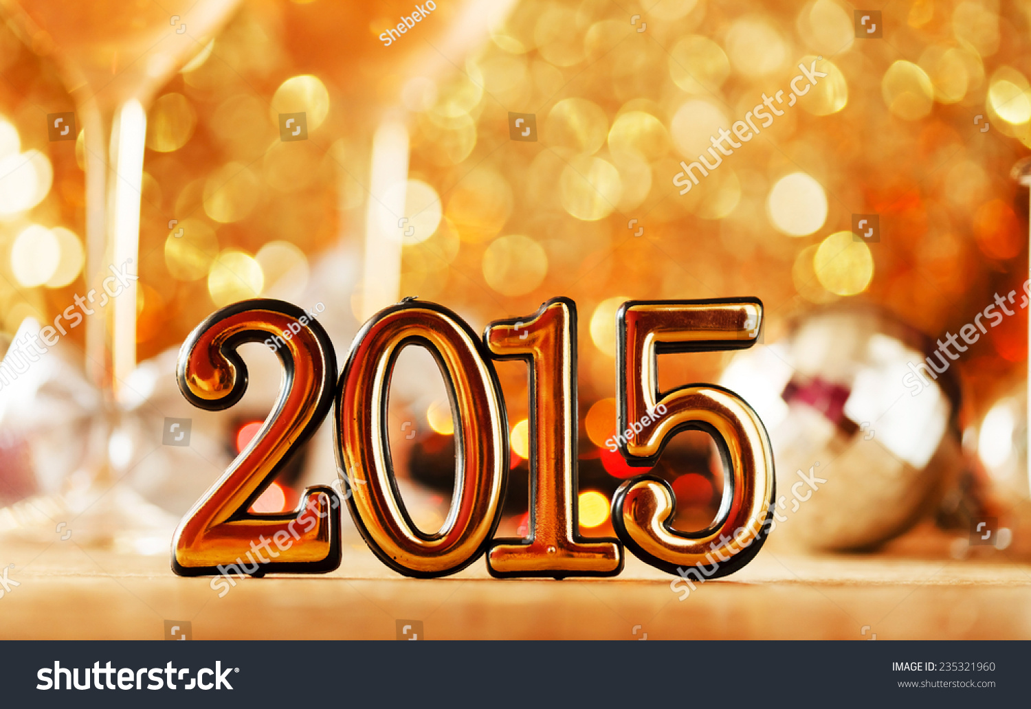 2015 Happy New Year Greeting Card Stock Photo Edit Now Shutterstock