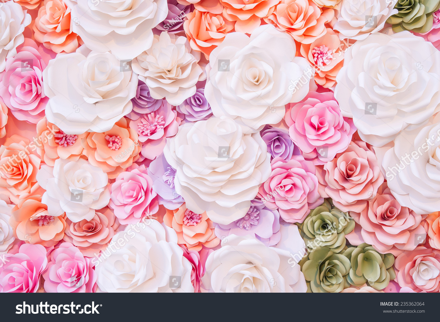 Colorful Flowers Paper Background Pattern Ez Canvas