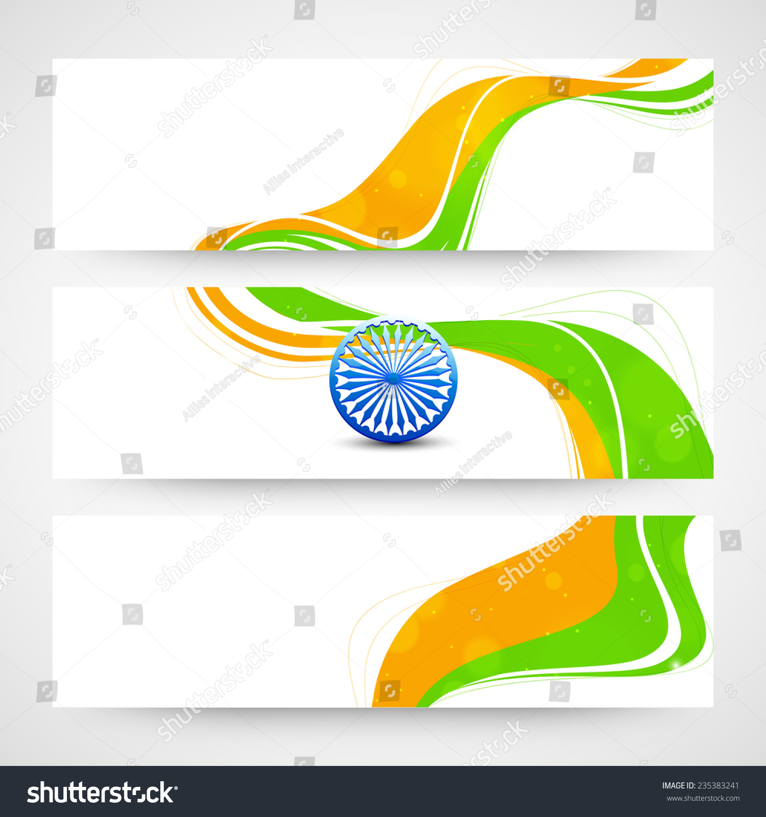 Colors website ashoka - Website Header Or Banner Set With Ashoka Wheel And National Flag Colors For Indian Republic Day
