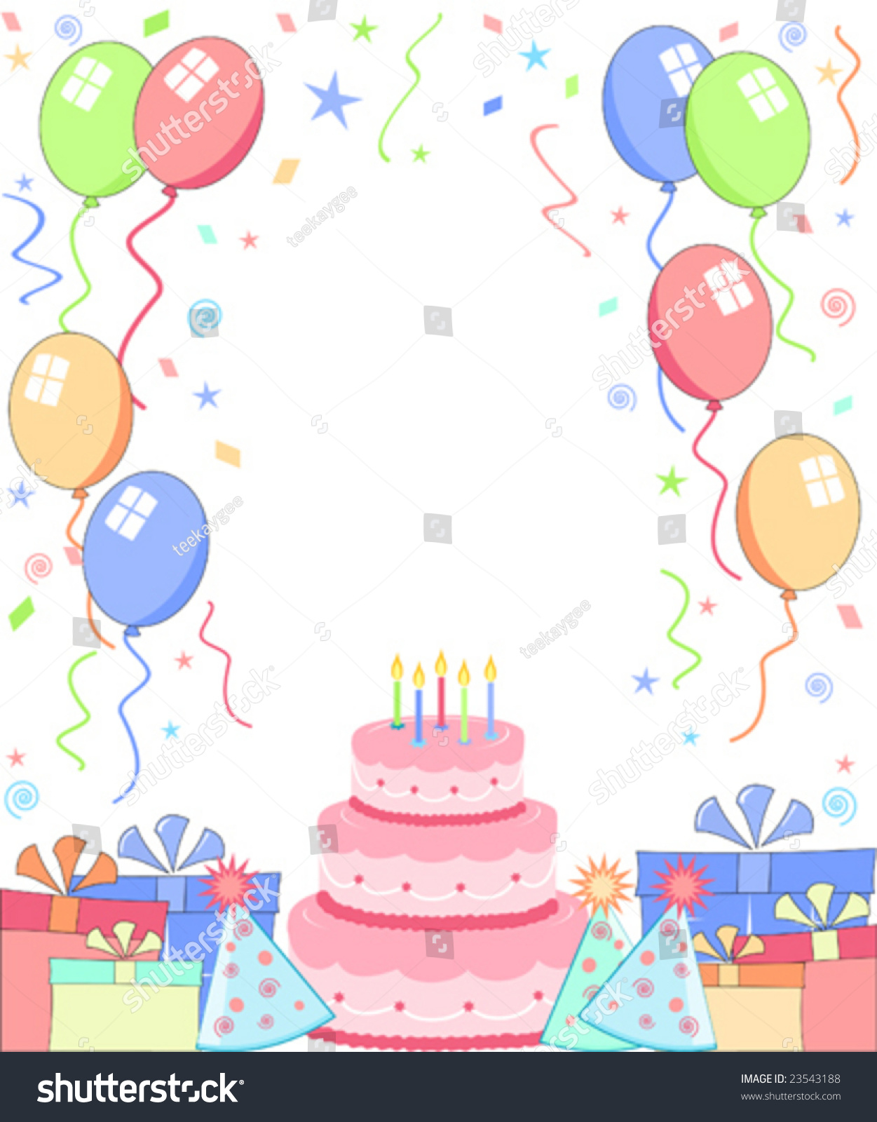 vector birthday party background stock vector royalty free