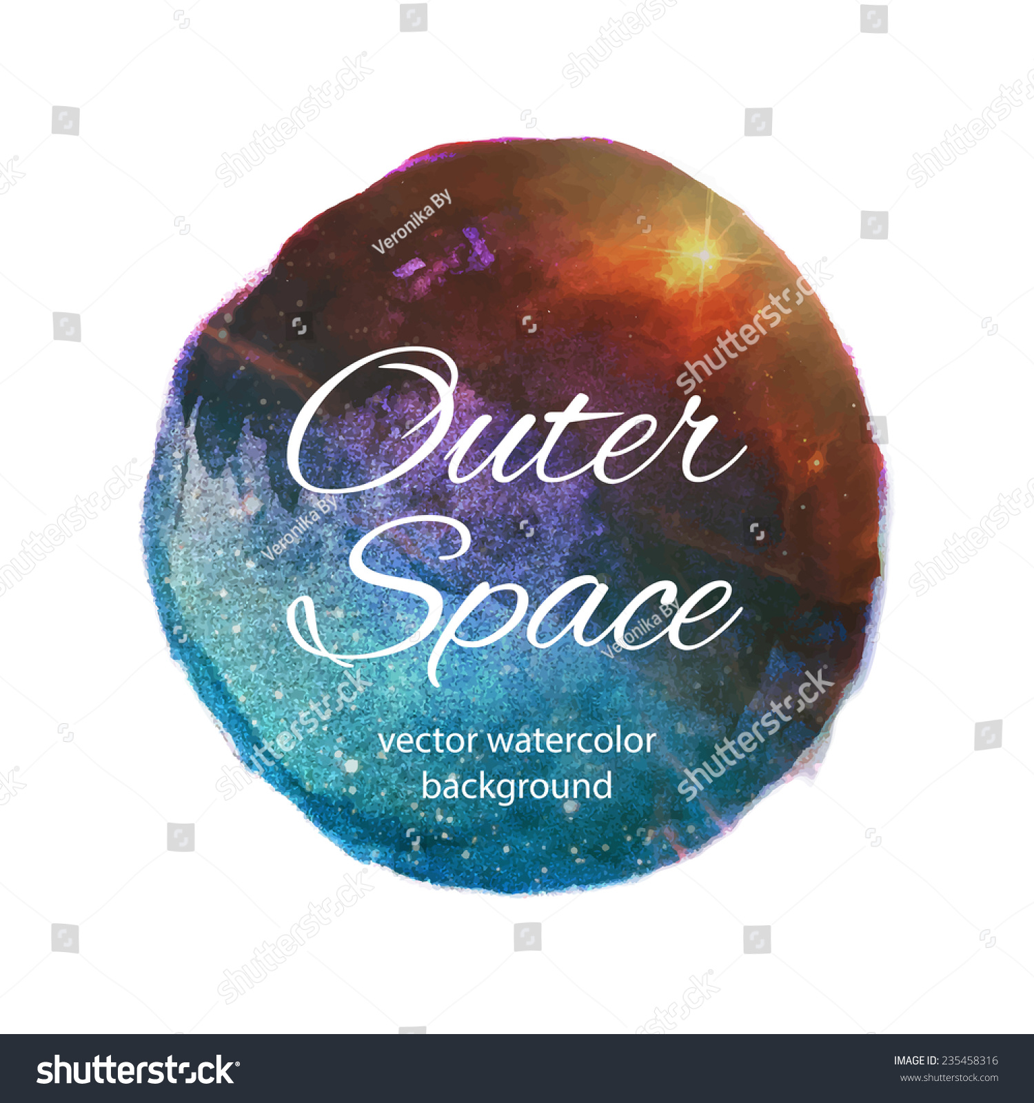 Outer space vector watercolor design stock vector for Outer space design richmond