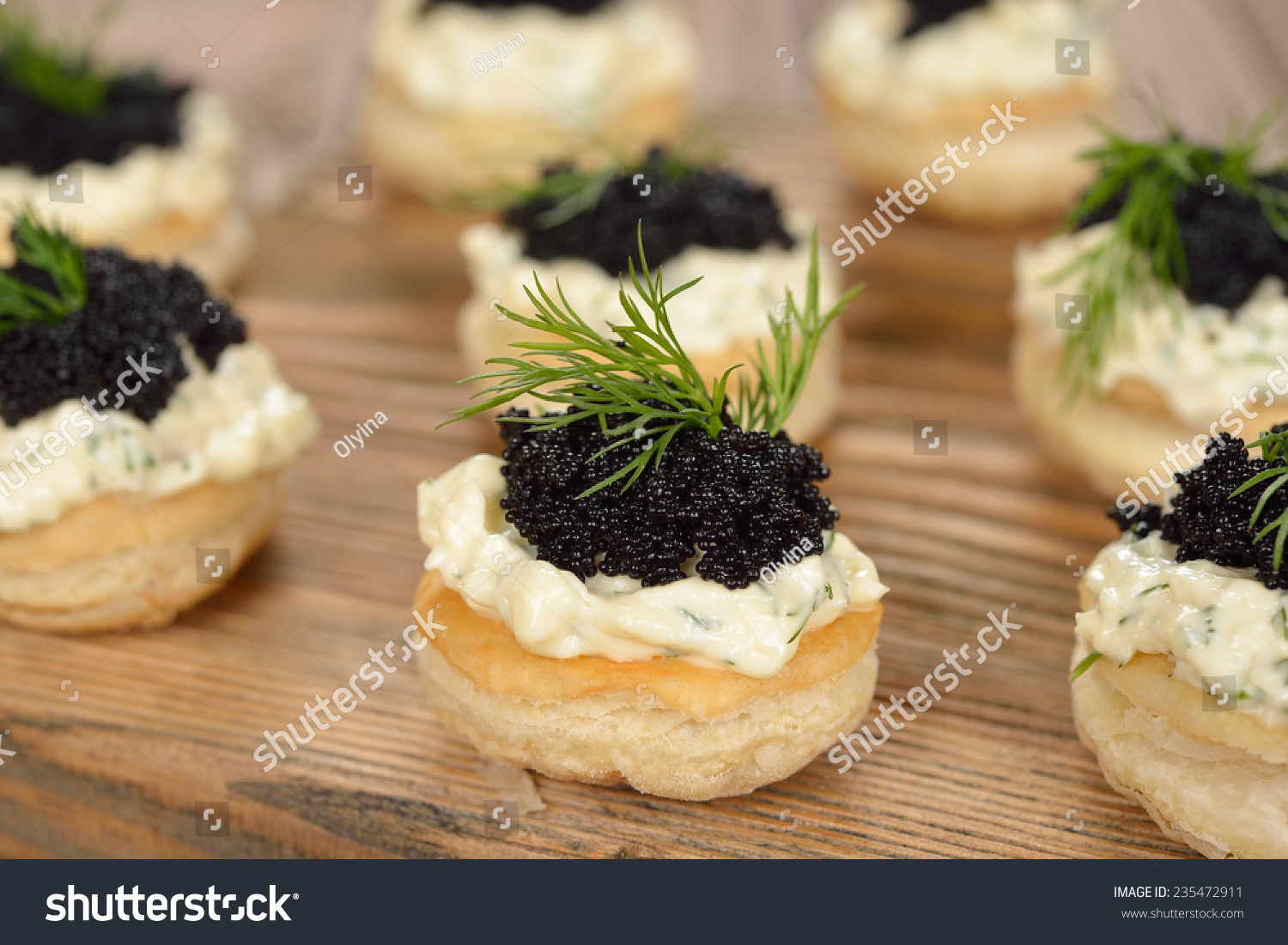 Canape caviar on brown background stock photo 235472911 for Canape with caviar