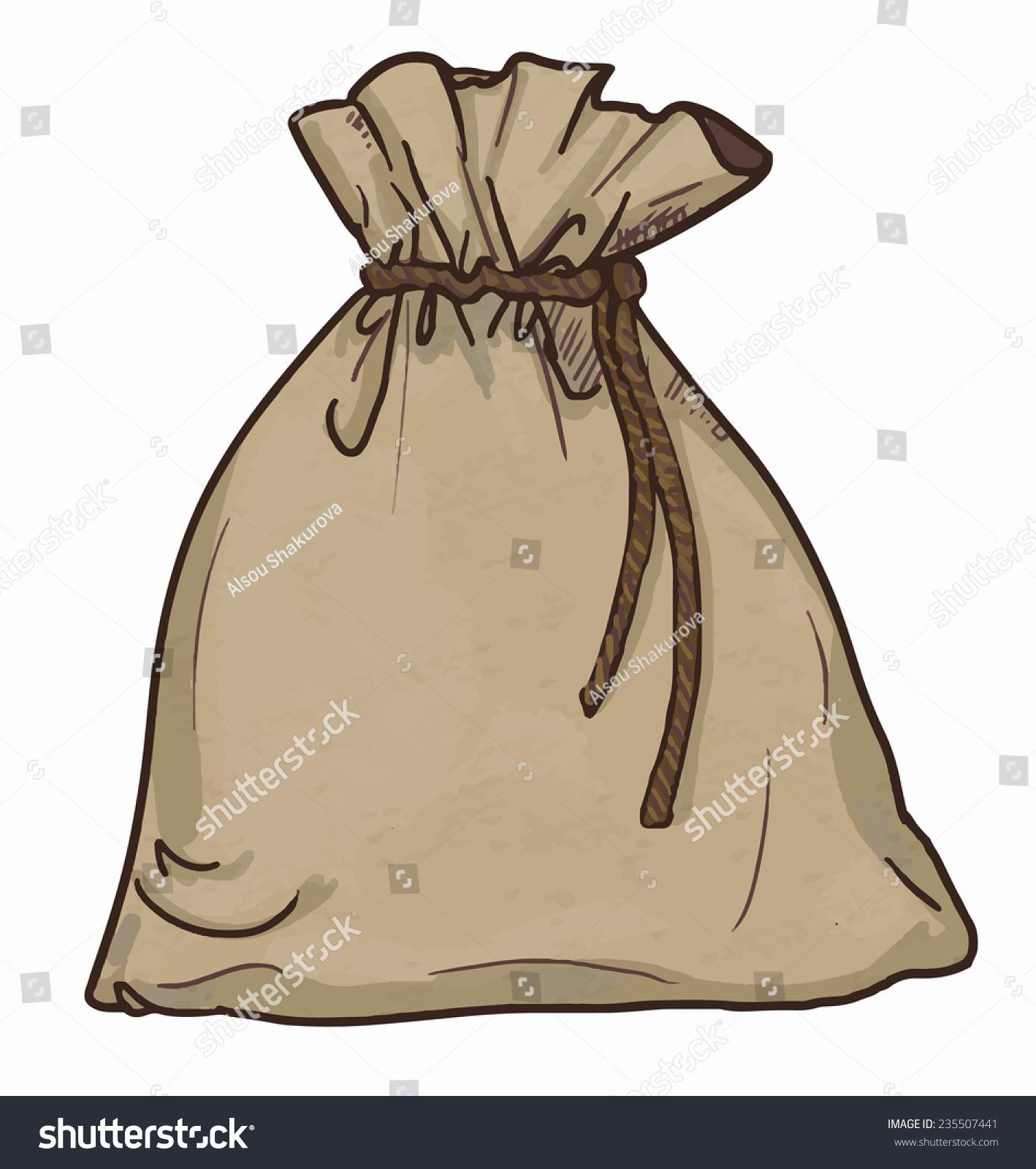 canvas sack vector canvas bag illustration stock vector 235507441 shutterstock. Black Bedroom Furniture Sets. Home Design Ideas