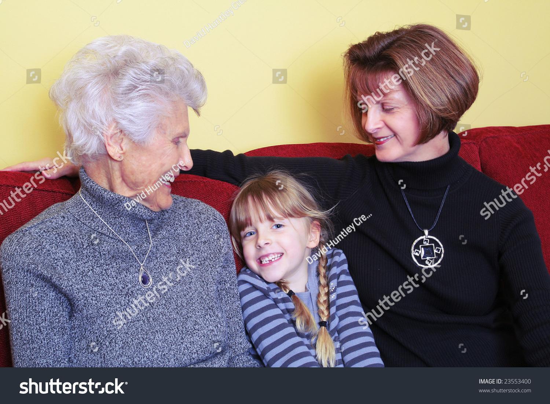 Mothers Day Visit Between Greatgrandmother Grandmother ...