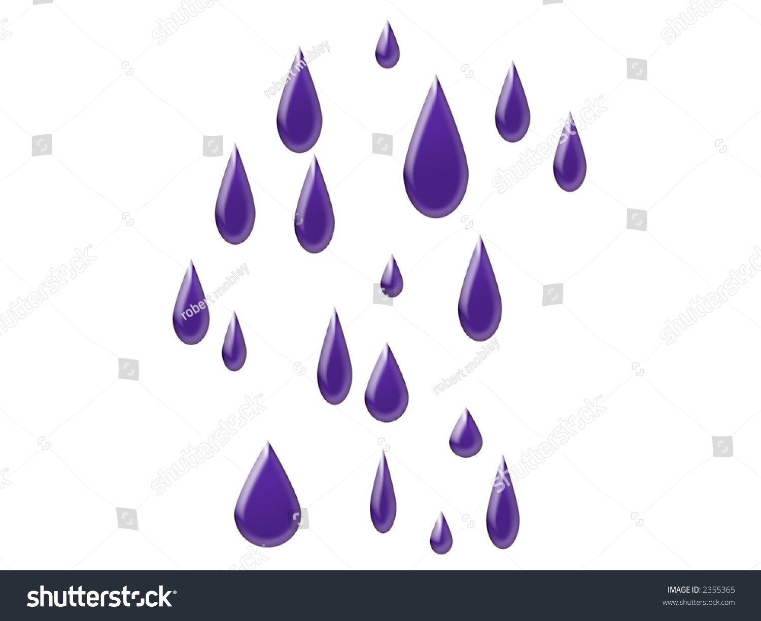 Image Gallery purple raindrops