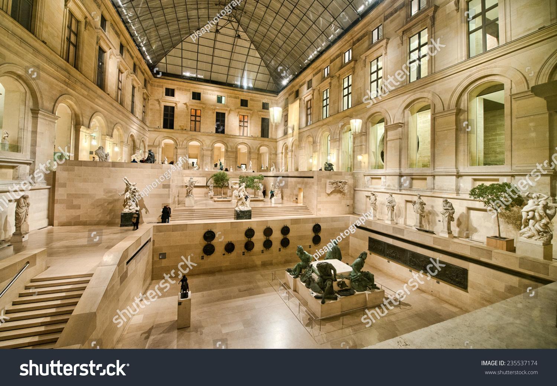PARIS NOV 30 Louvre Museum Interior Stock Photo (Edit Now) 235537174 ...
