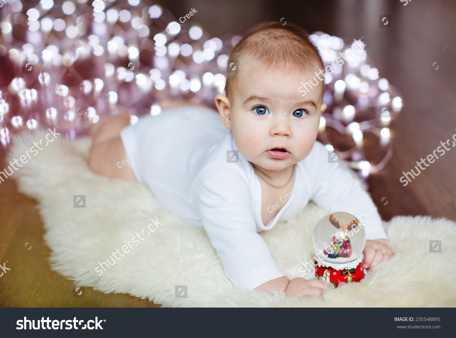 small very cute baby lying on stock photo (royalty free) 235548895