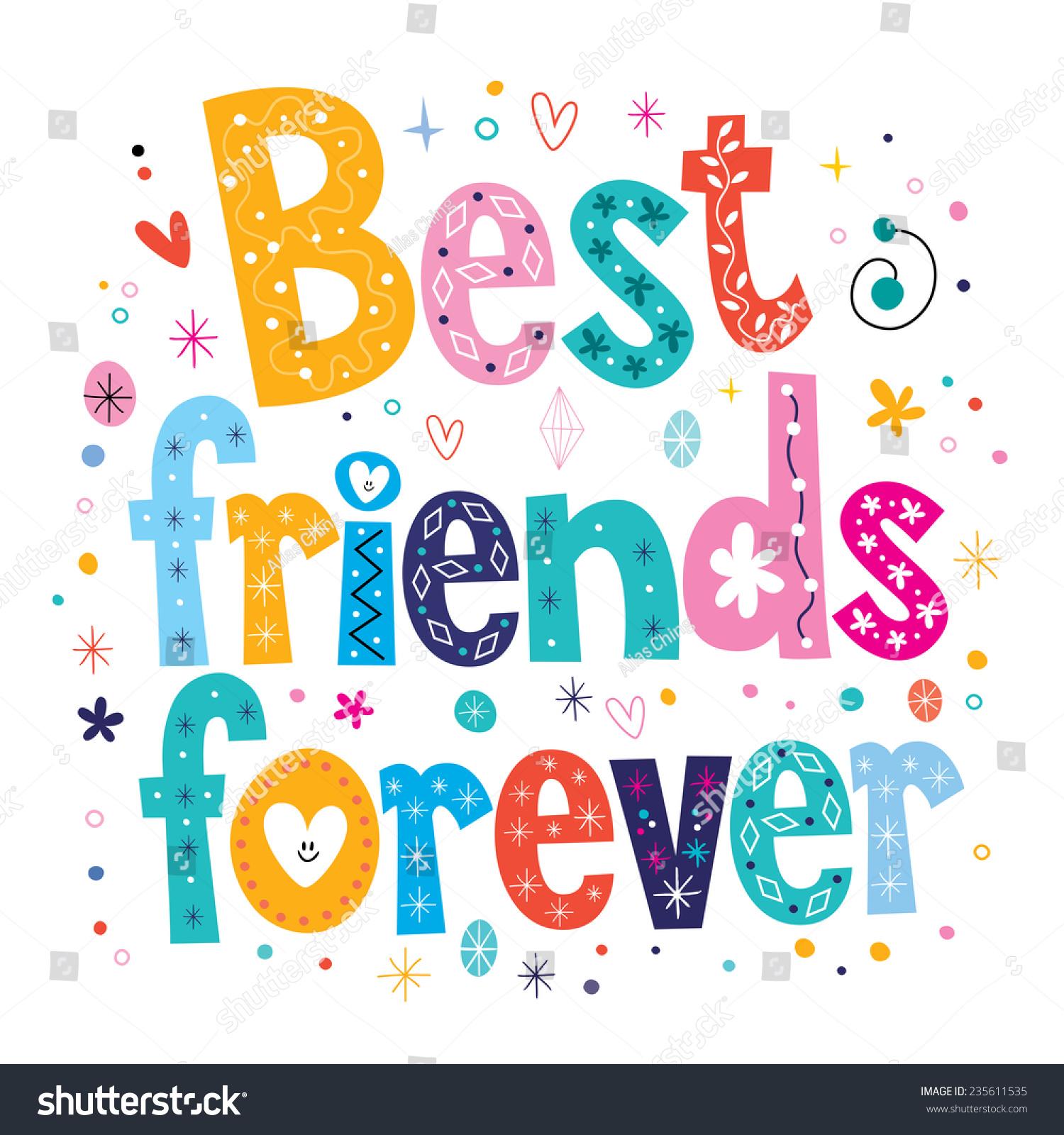 Best friends forever stock vector 235611535 shutterstock