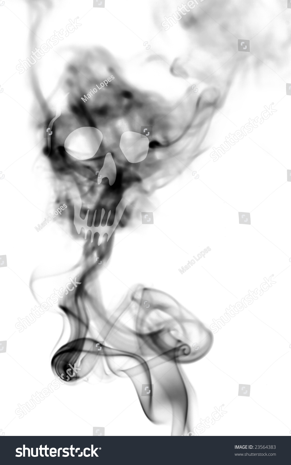 death skull made cigarette smoke isolated stock photo edit now