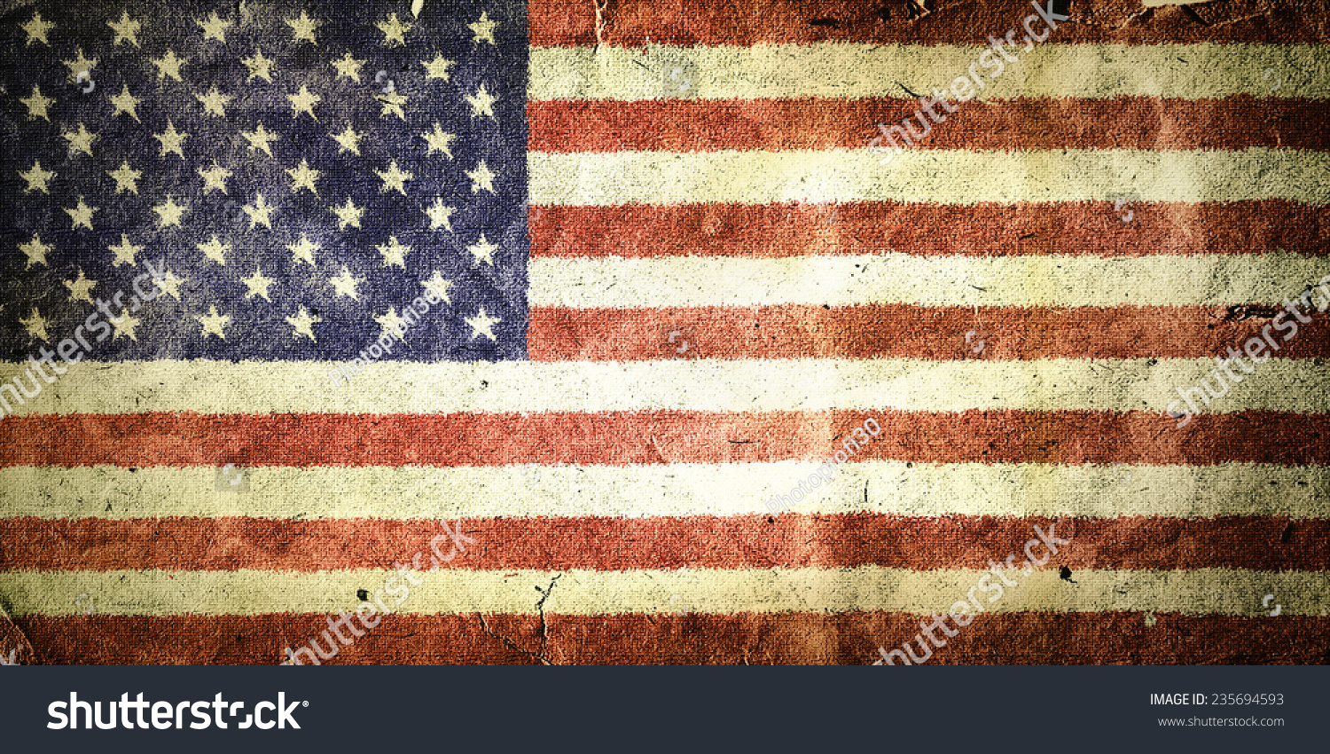 Flag United States America Old Vintage Stock Illustration - How old is the united states of america