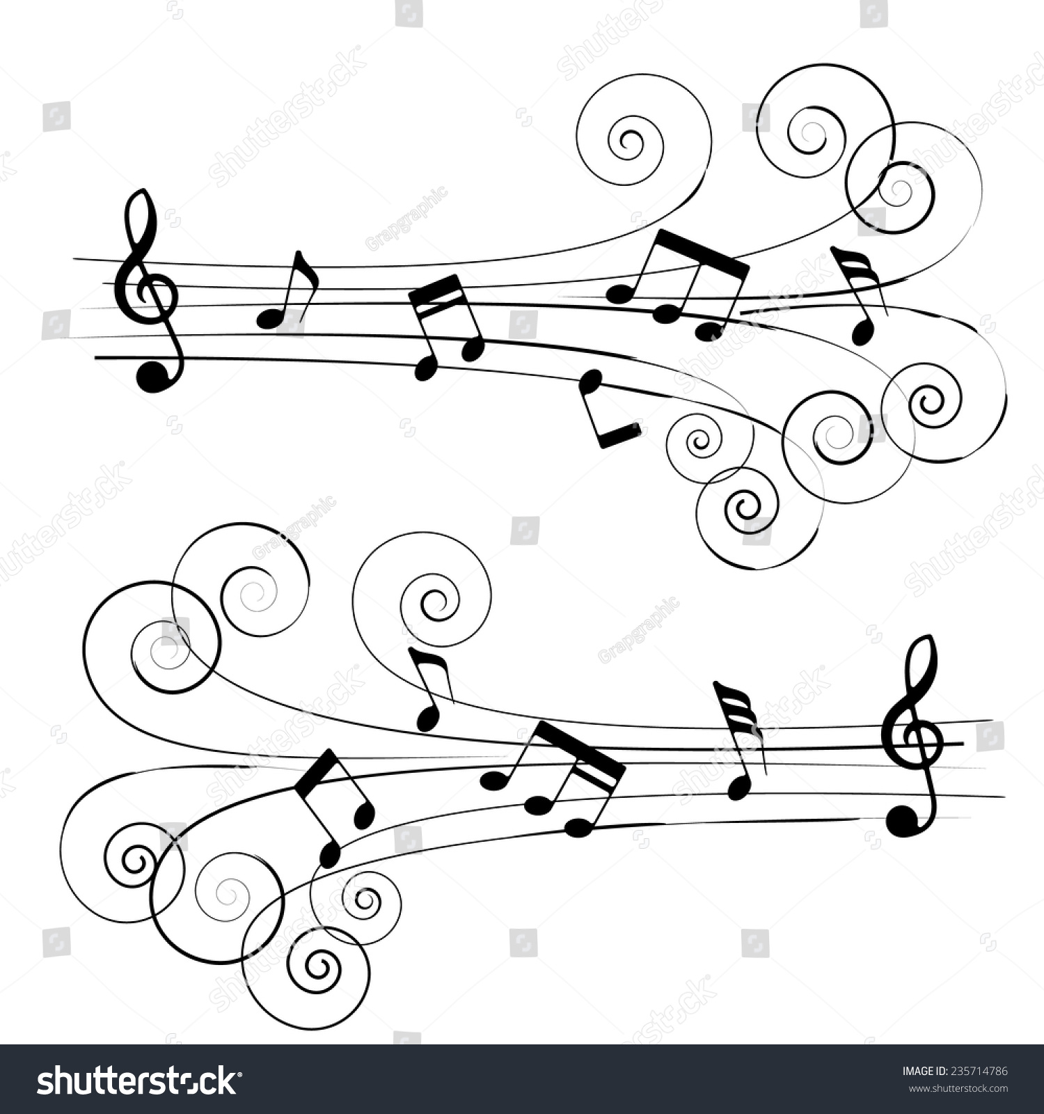 Musical chords roll chord styles vector stock vector 235714786 musical chords in roll chord styles a vector illustration hexwebz Image collections