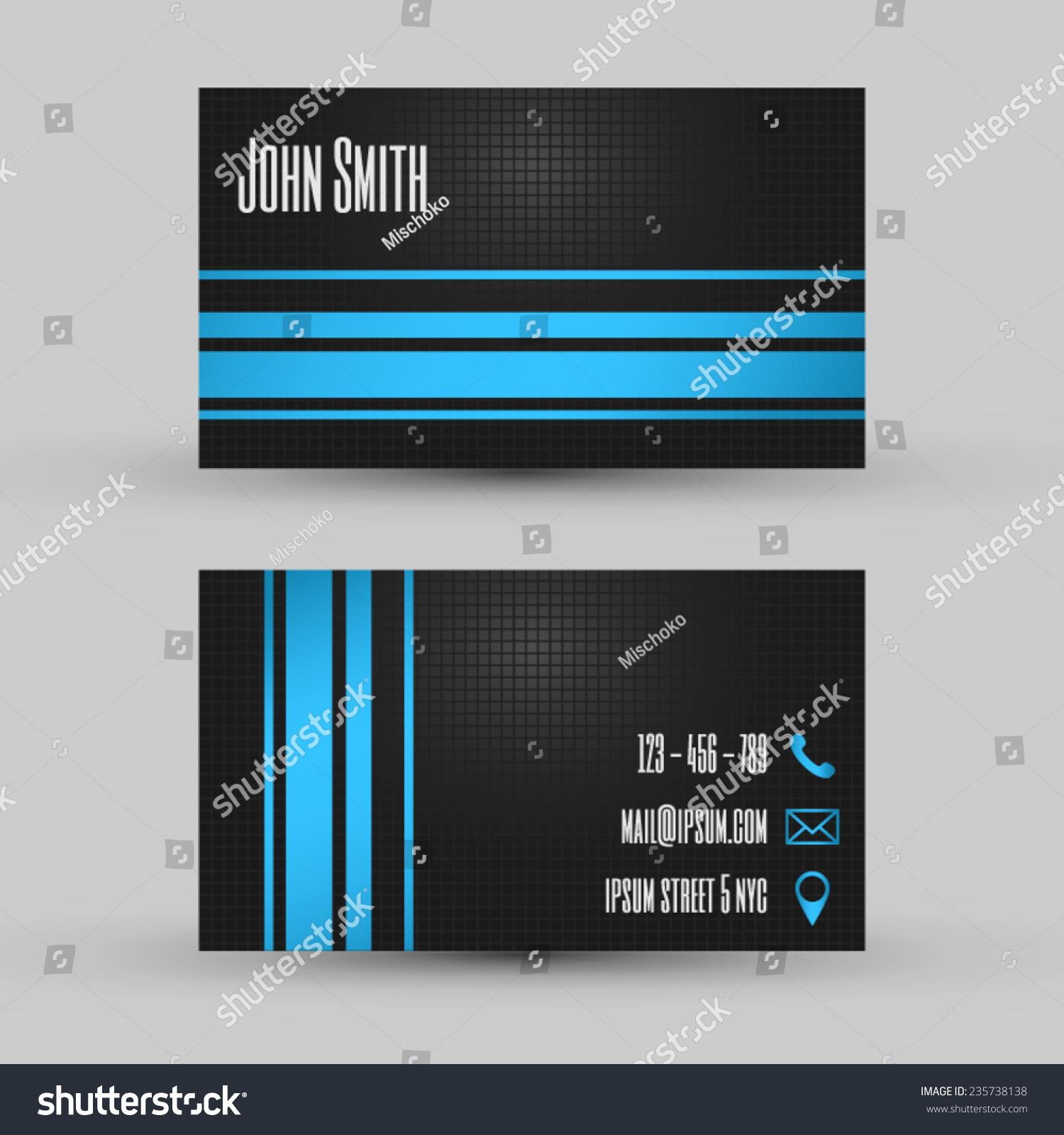 Business Card Template Creative Modern Design Stock Vector 235738138 ...