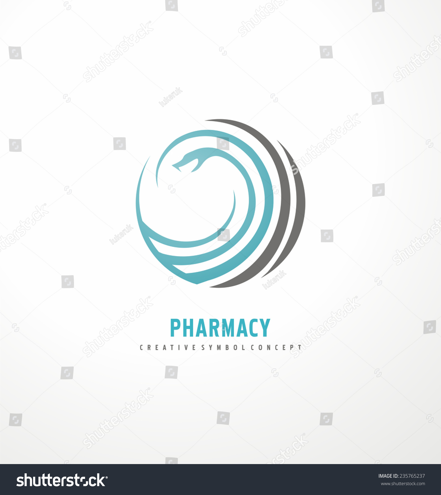 snake logo design template vector pharmacy stock vector