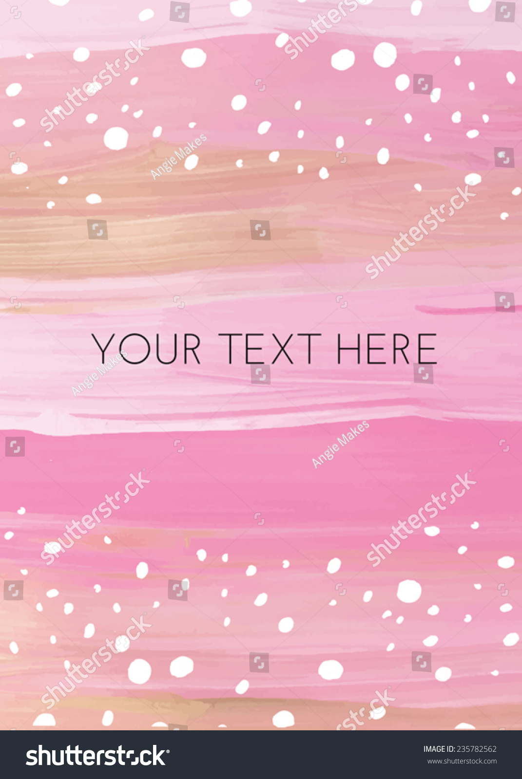 cute girly painted pink gold invitation stock vector royalty free