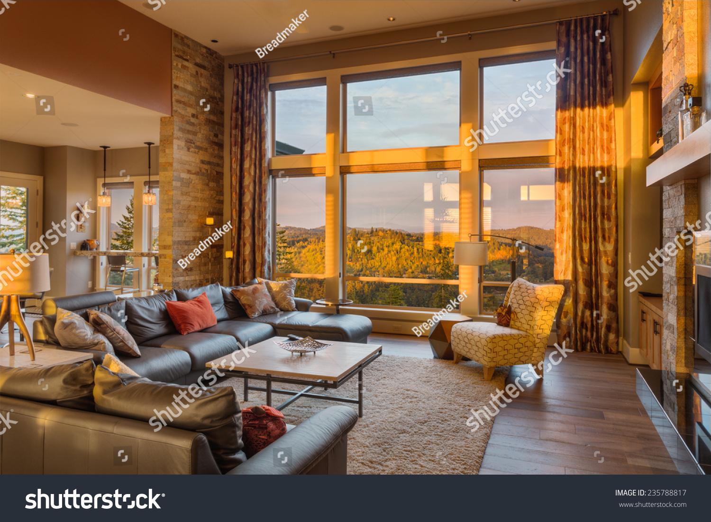 Beautiful Living Room With Hardwood Floors And Amazing