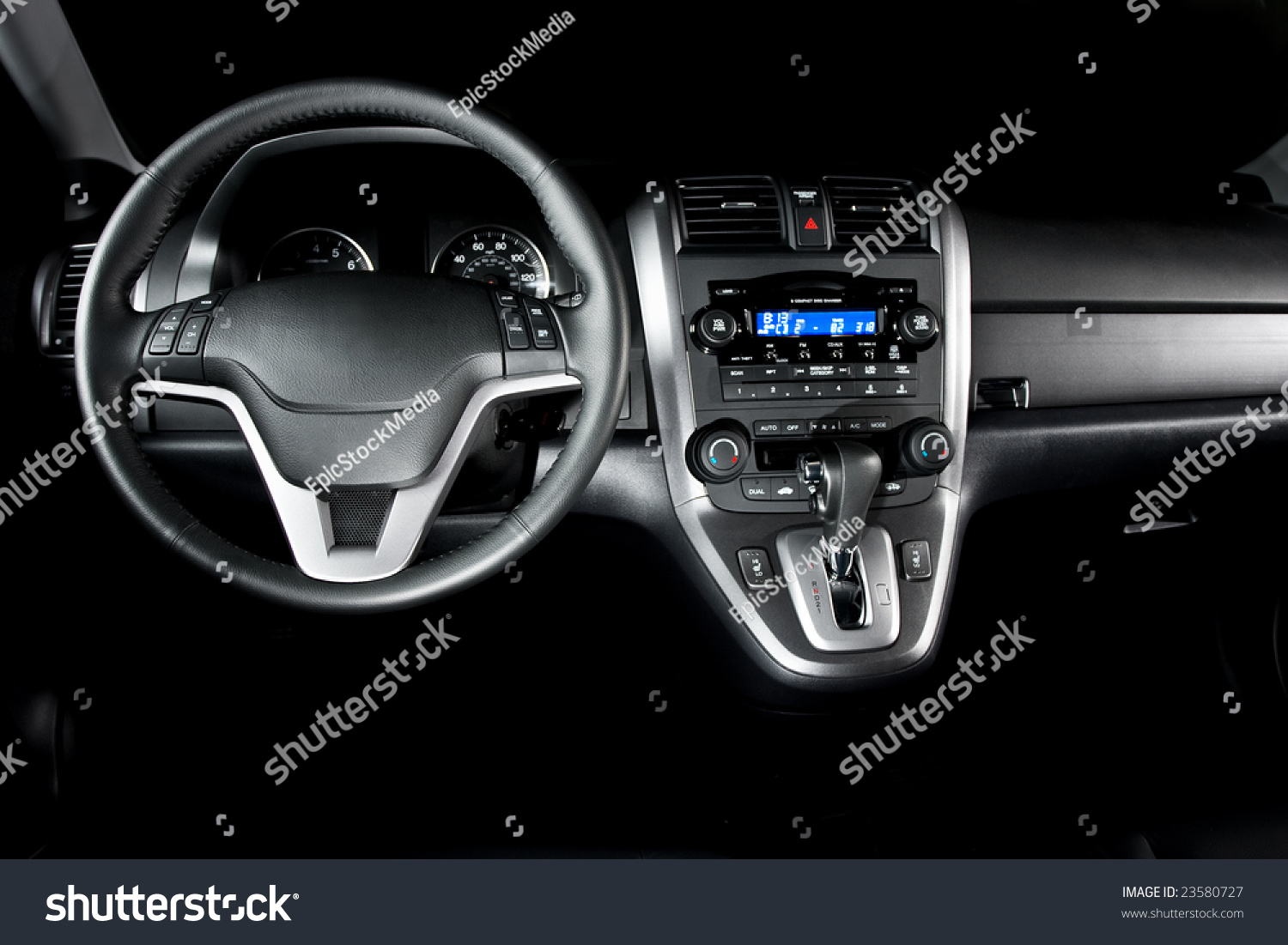 New Car Interior Shiny And Black Stock Photo 23580727 Shutterstock