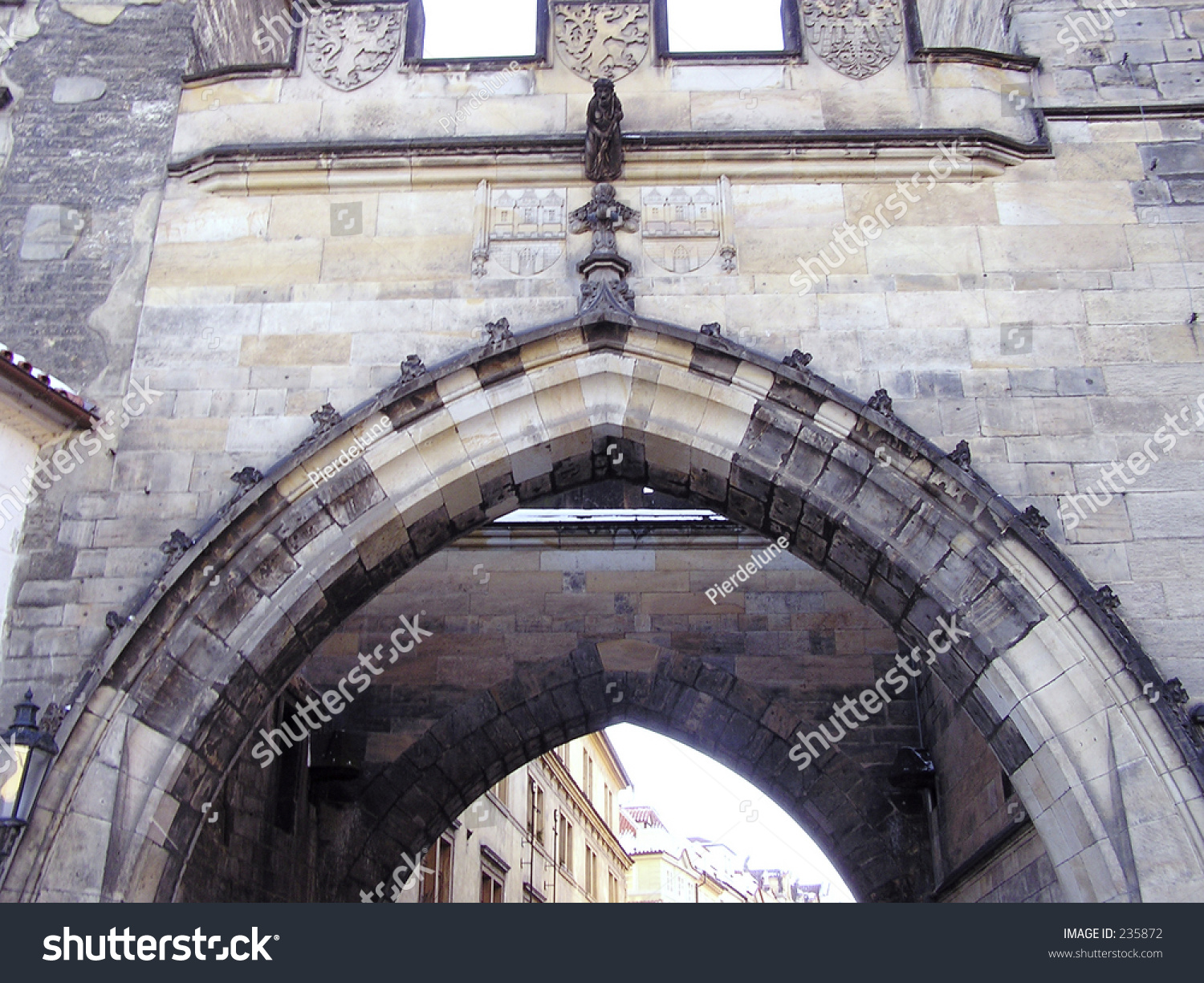 Door arch of castle in prague stock photo 235872 for Door z prague