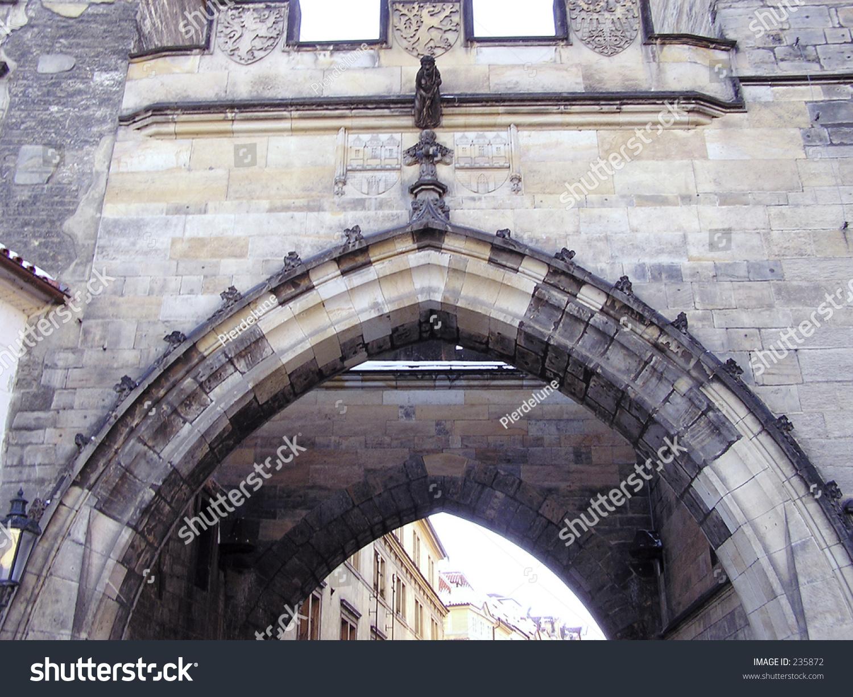 Door arch of castle in prague stock photo 235872 for Door z prague