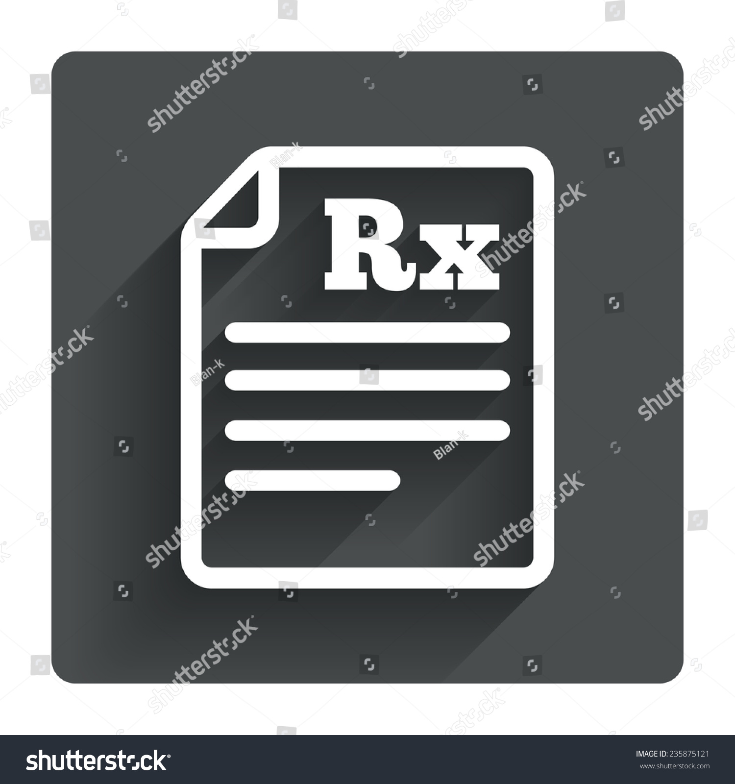 Medical prescription rx sign icon pharmacy stock vector 235875121 medical prescription rx sign icon pharmacy or medicine symbol gray flat square button with buycottarizona