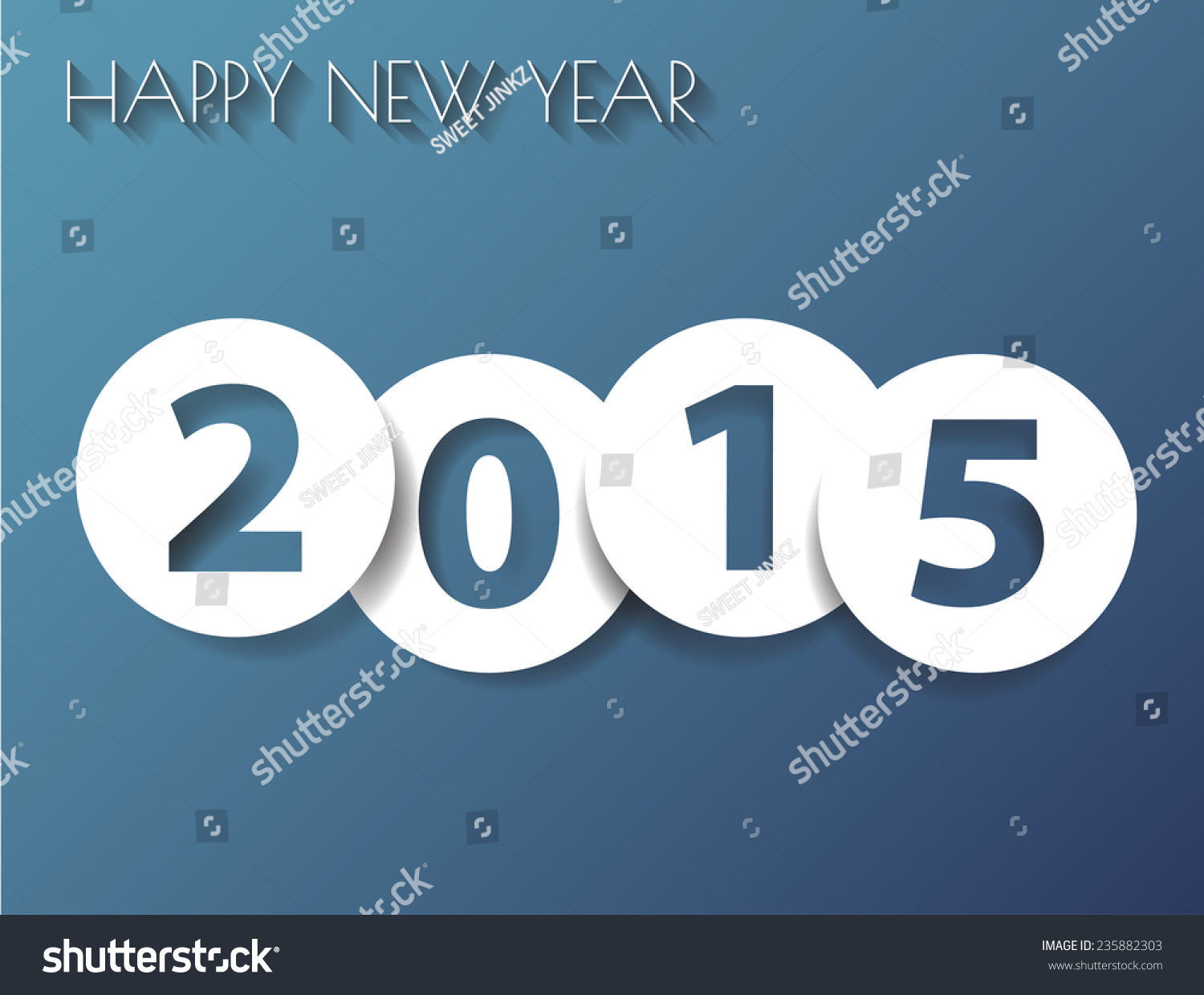 happy new year card 2016 simple stock illustration ez canvas