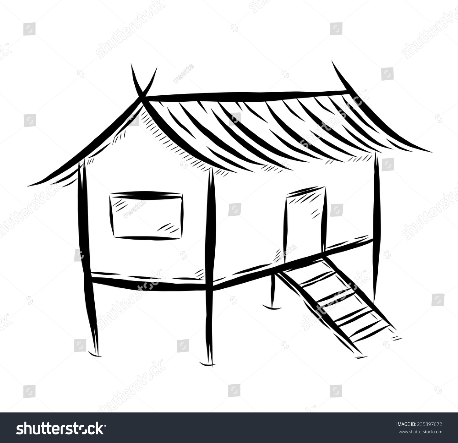 straw house coloring page images