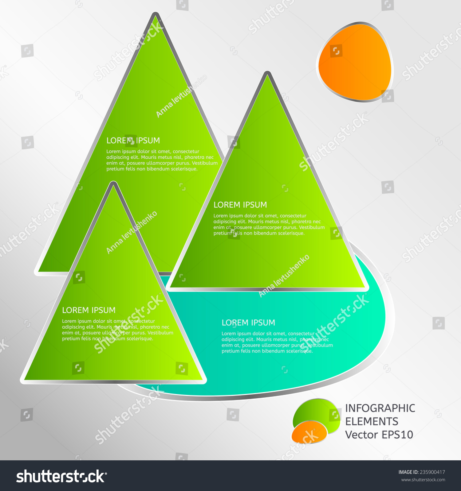 Ecology Infographic Template Form Pyramid Tree Stock Vector ...