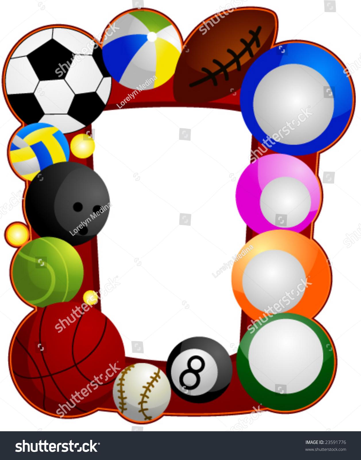 Sports Clip Art Border - info