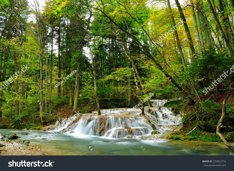 stock-photo-mountain-waterfall-beusnita-