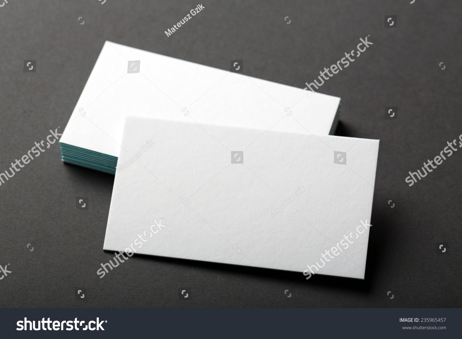 Backed Paper Blank Business Cards On Stock Photo 235965457 ...