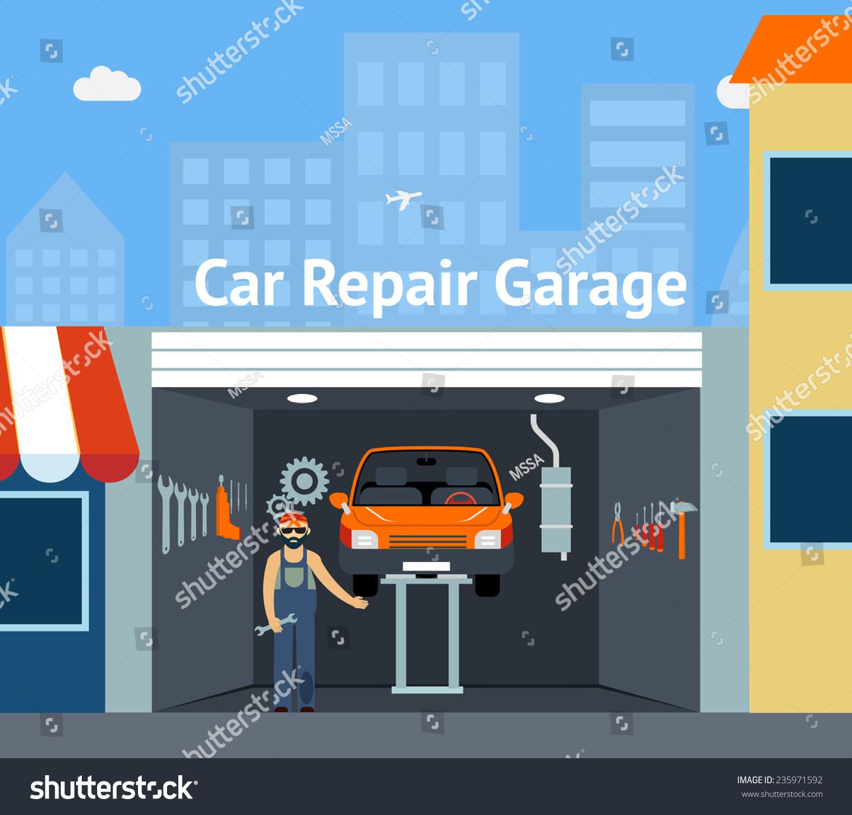 Car repair garage design for Garage pixel auto metz