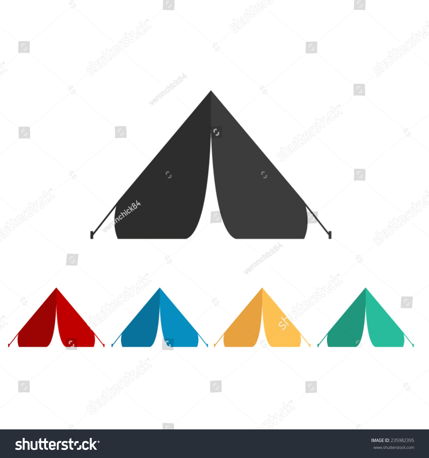 Image Gallery tent vector