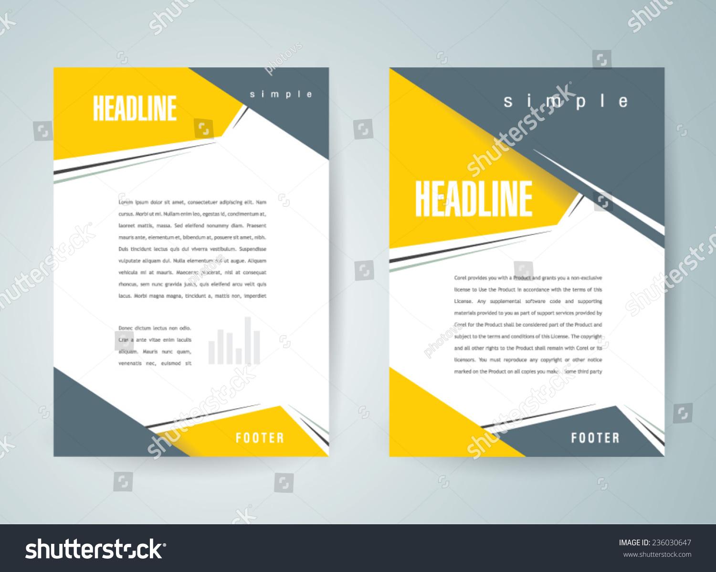 Brochure Design Template Vector Flyer Action Abstract