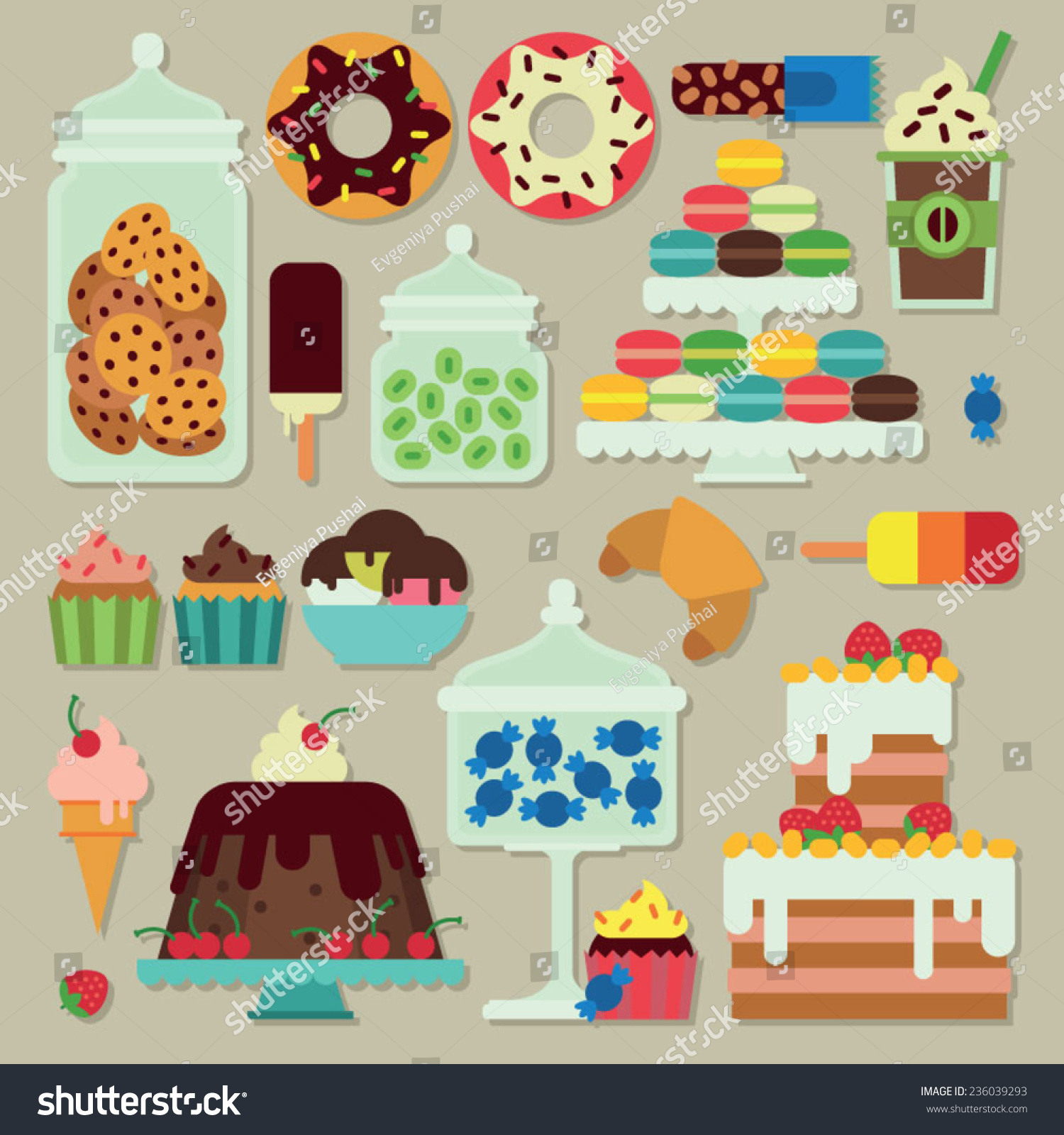 candy buffet different sweets stock vector shutterstock