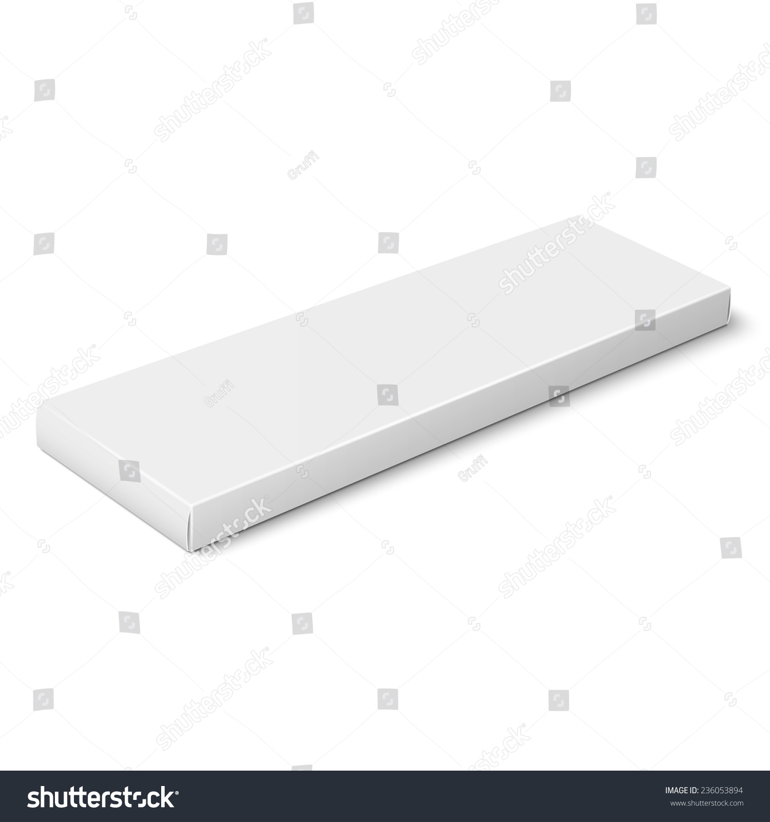 White Slim Paper Cardboard Box Template Stock Vector 236053894 ...