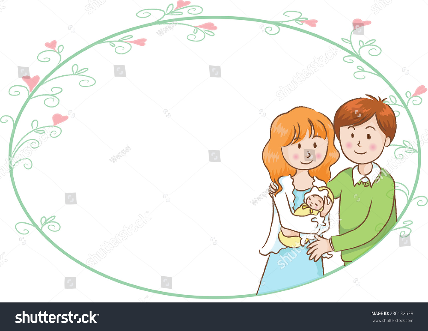 Blank greeting card new born baby stock vector 236132638 blank greeting card for new born baby kristyandbryce Gallery