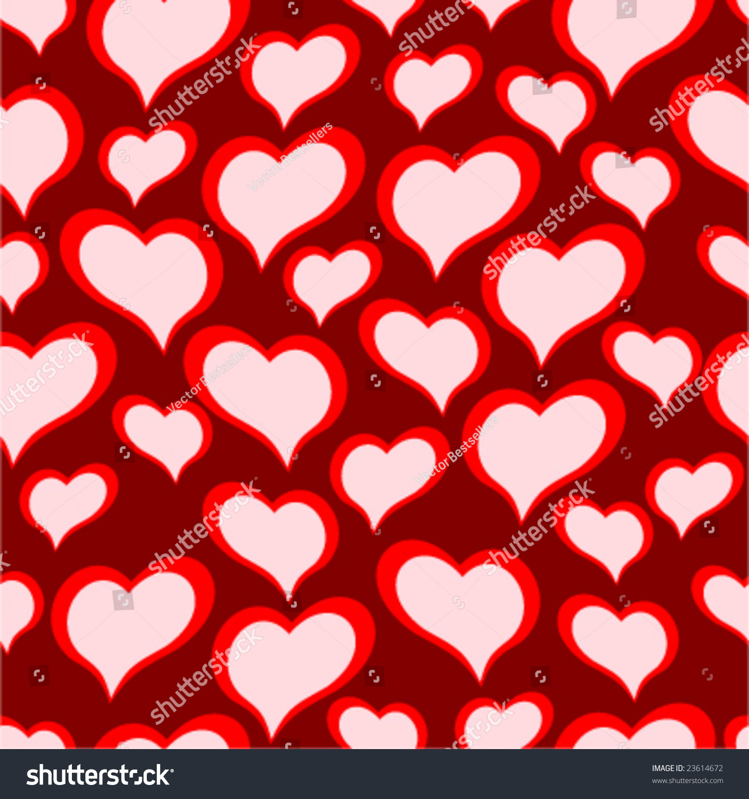Seamless vector texture hearts you can stock vector for Wallpaper you can color