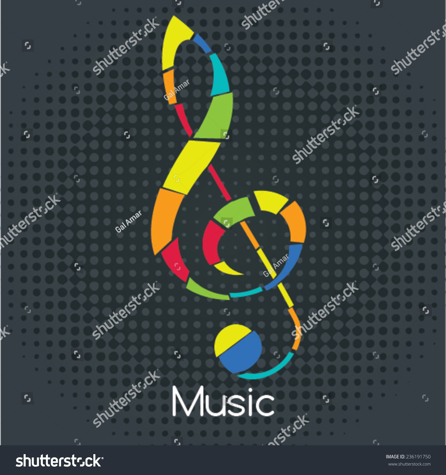 Retro Sol Key Vector Illustration Musical Stock Vector Royalty Free