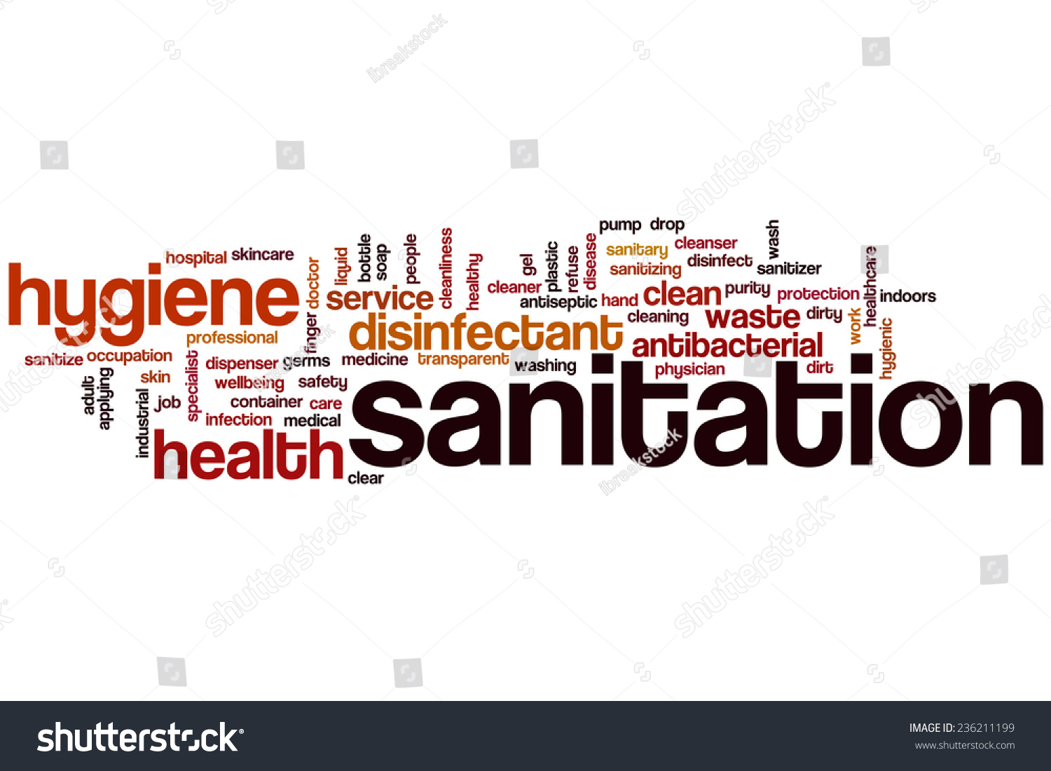 sanitation word cloud concept stock illustration 236211199 sanitation word cloud concept