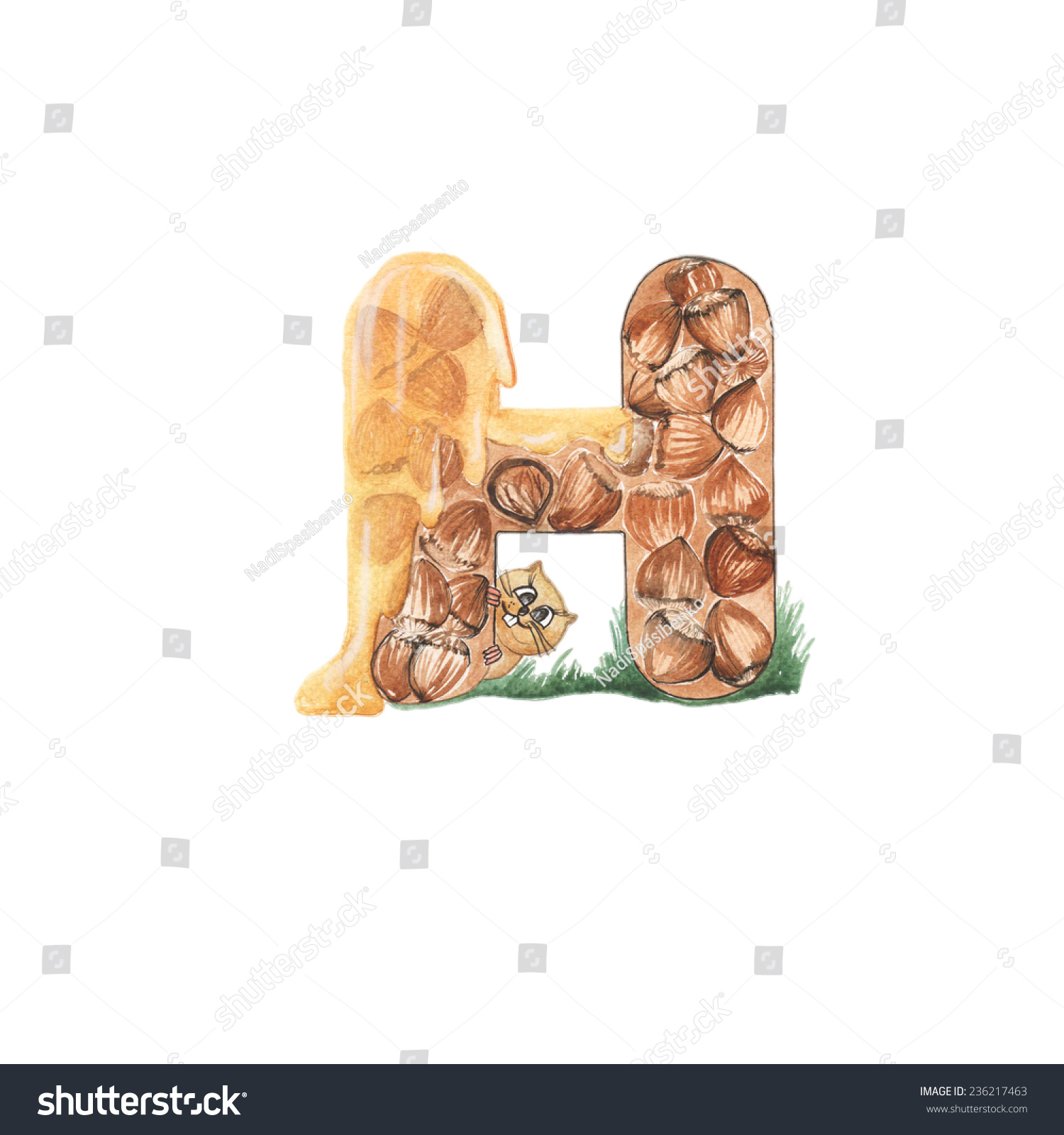 english alphabet cartoon consist letters animal stock illustration consist of letters and animal food letter h hamster