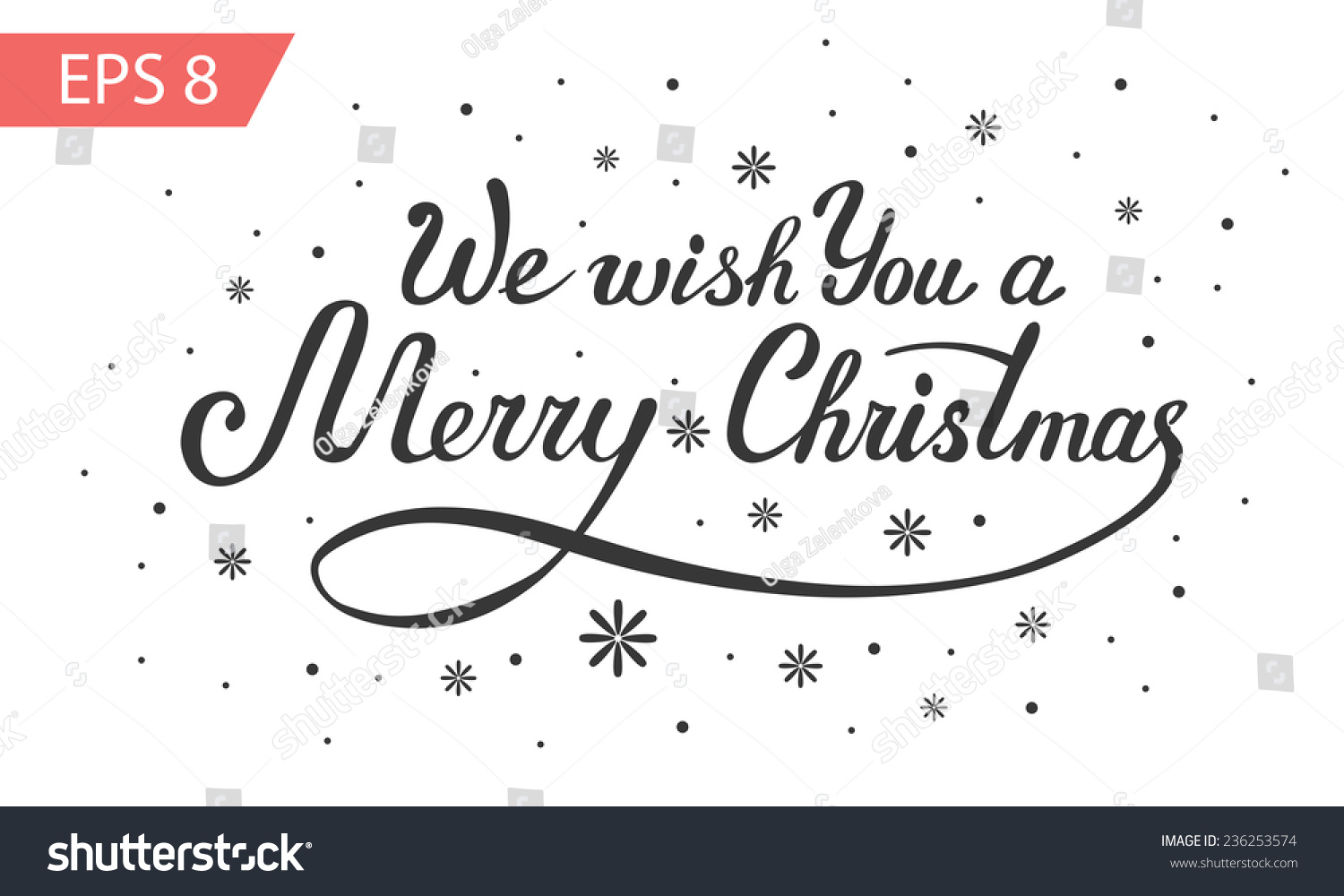 We Wish You Merry Christmas Vector Stock Vector (Royalty Free ...