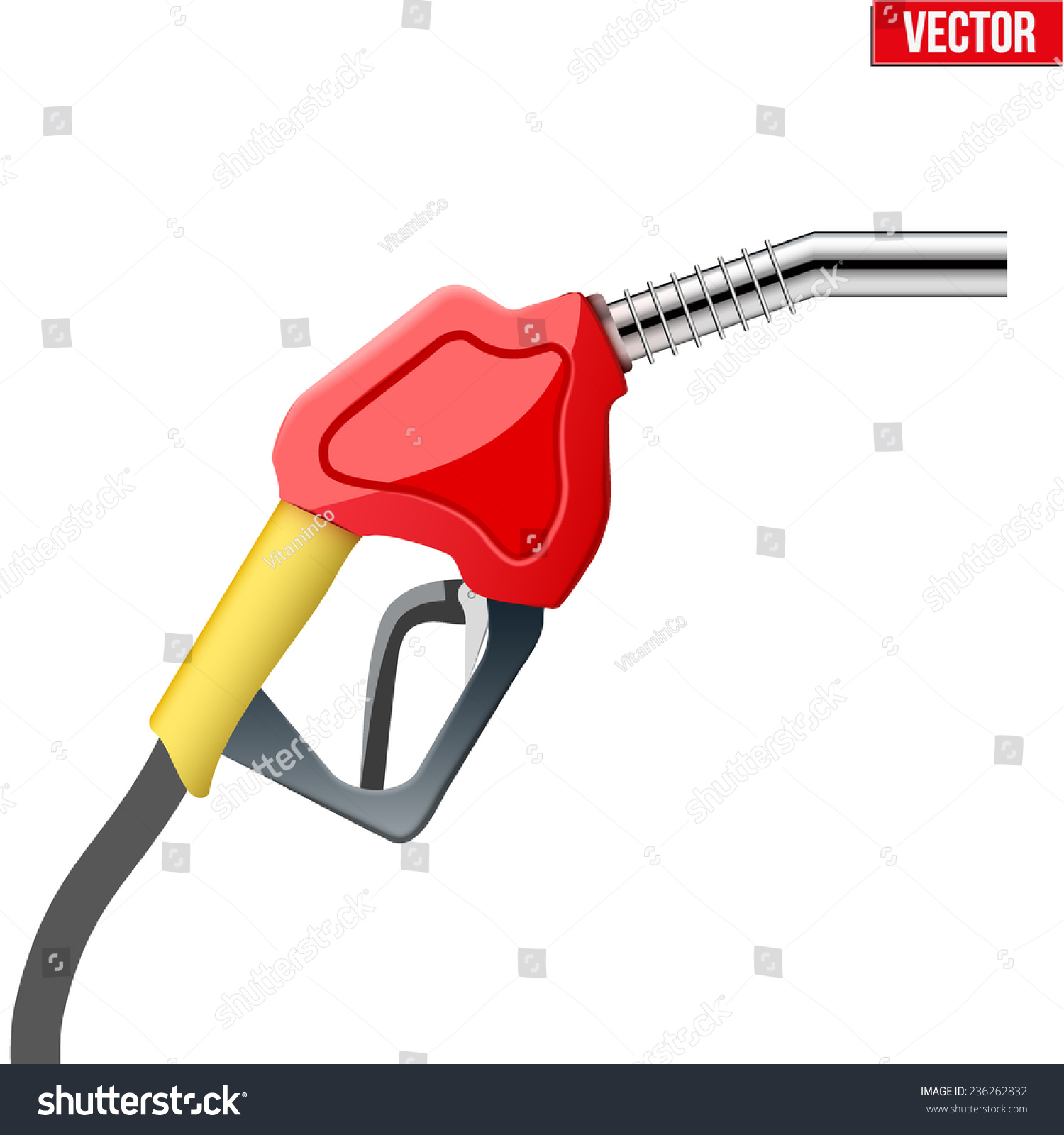 Petrol Handle And Nozzle Back Stock Photos - Image: 34568943