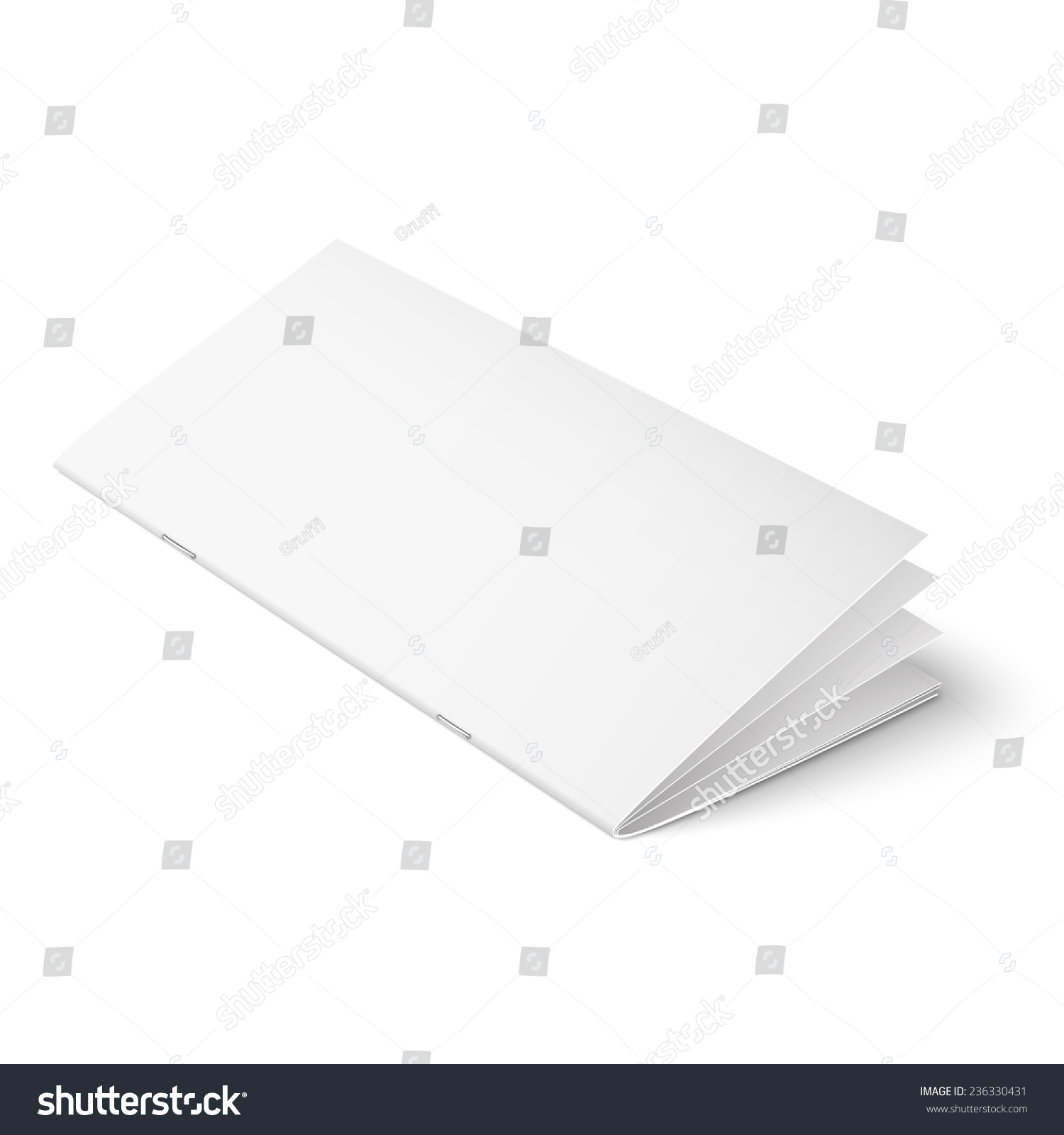 multi page brochure template - empty multipage brochure template clips on stock vector